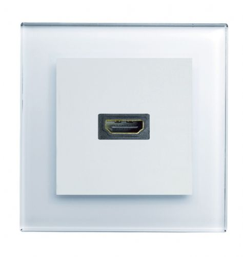 RetroTouch HDMI Socket White Glass PG 00315